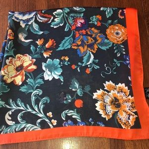 Stunning EUC floral scarf Saks Fifth Avenue